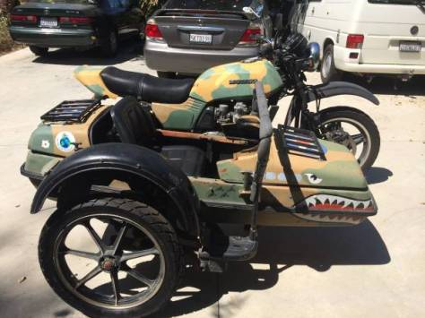 Honda CB750F with Sputnik Sidecar - Right Side