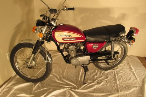 Honda CL125 Suitcase Cycle - Left Side