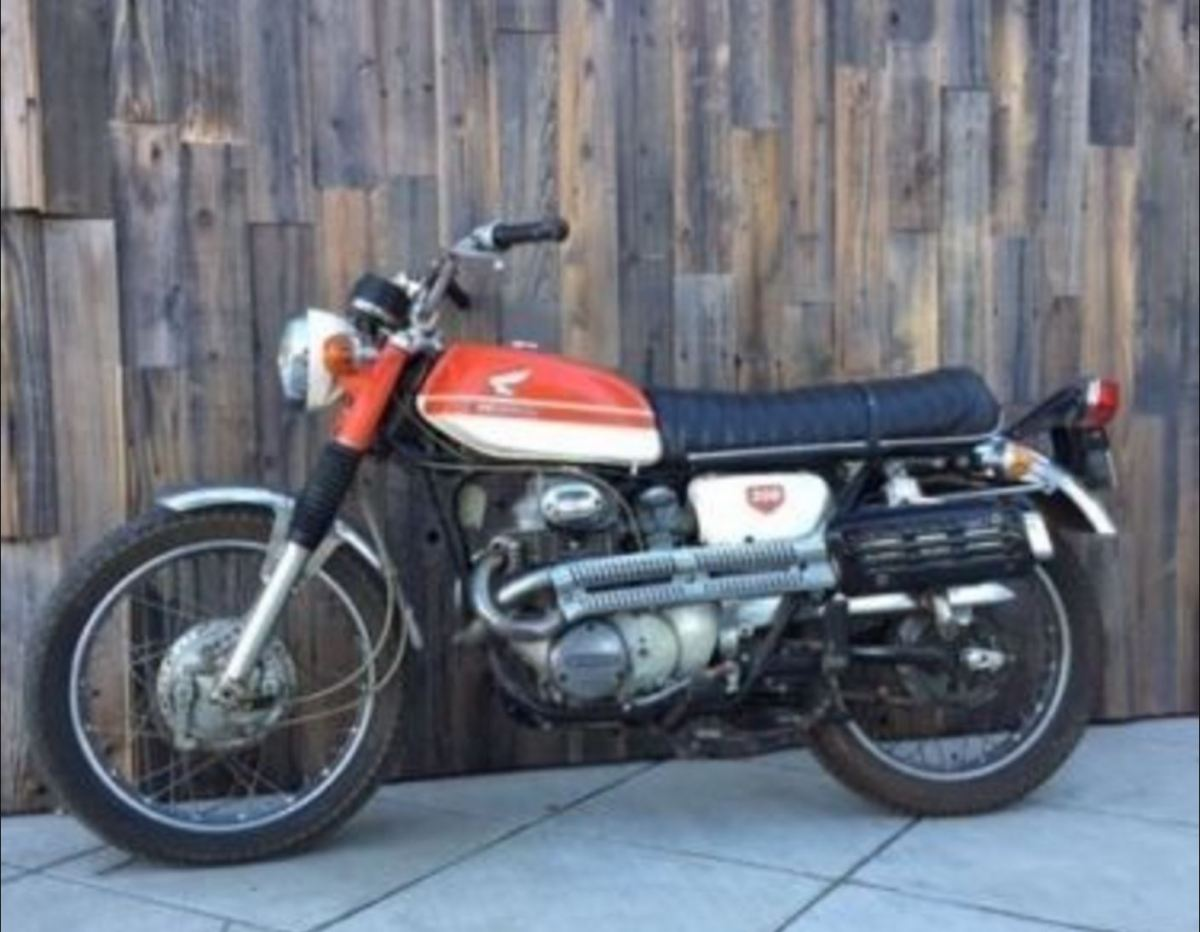 Ending Soon 1969 Honda Cl350 Scrambler Bike Urious