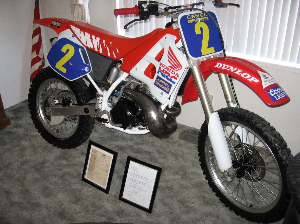 Jeremy McGrath's Practice Bike - 1991 Honda CR250R