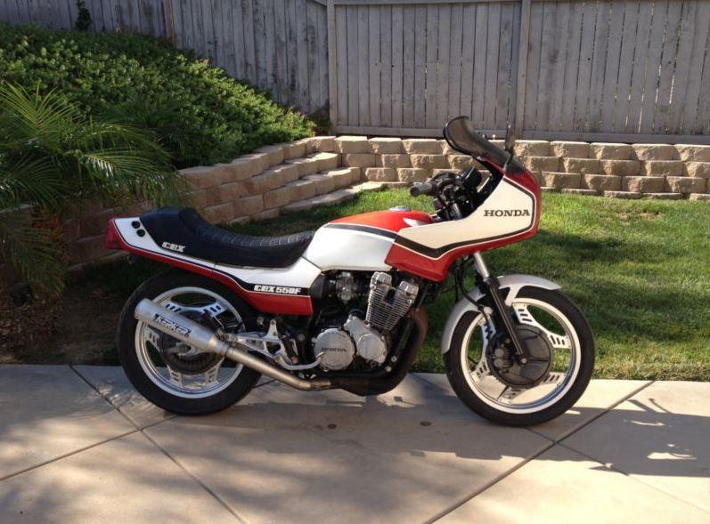 Honda CBX550 - Right Side