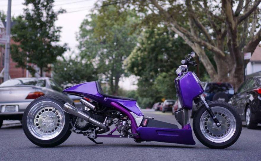 Zuma-Powered, Composimo-Built – Custom Honda Ruckus – Bike