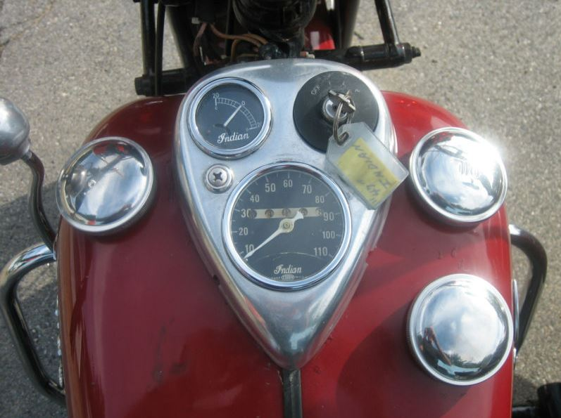 Indian Chief Sidecar - Gauges