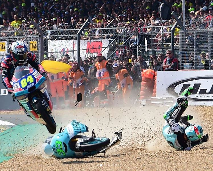 Video Intermission - Moto3 Rider Jumps Downed Bike