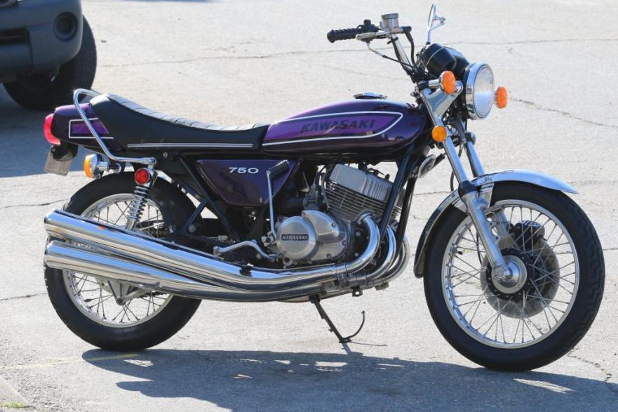 Royal Purple – 1975 Kawasaki H2 750 – Bike-urious
