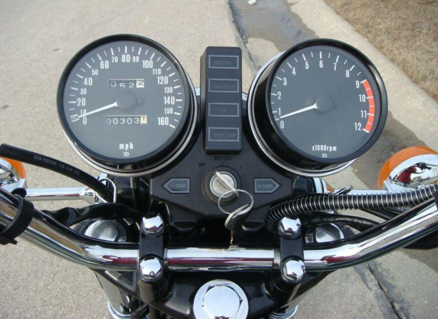 Kawasaki KZ900 - Cockpit