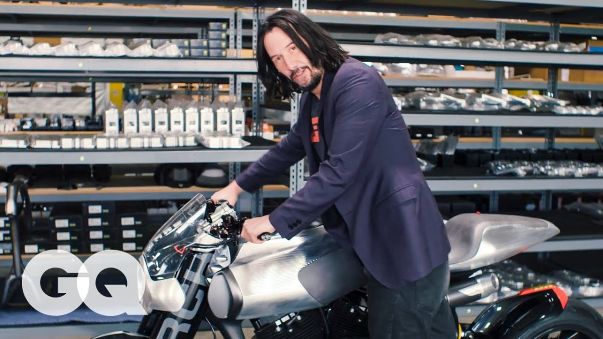 Video Intermission - Keanu Reeves Shows Us His Most Prized Motorcycles