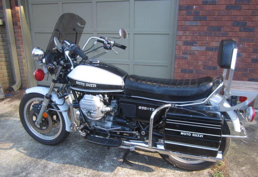 1975 moto guzzi 850 t3 police bike urious. Black Bedroom Furniture Sets. Home Design Ideas