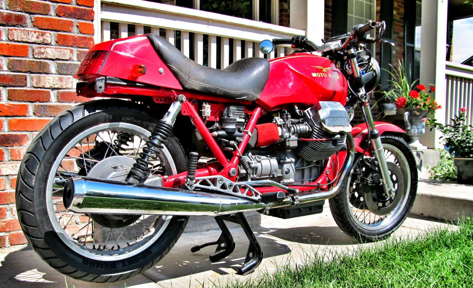 butterface 1990 moto guzzi mille gt 1000 custom bike. Black Bedroom Furniture Sets. Home Design Ideas