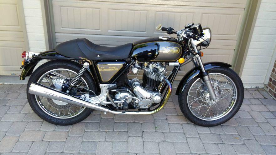 Rebuilt Commando 1975 Norton Commando 850 Bike Urious