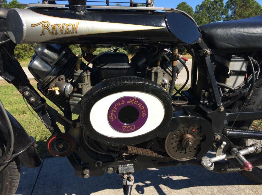 Raven MotoCycle - Left Side Engine