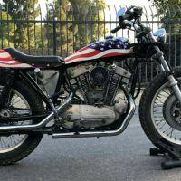 """""""Stars & Stripes"""" - 1970 Harley-Davidson XR750 Custom"""