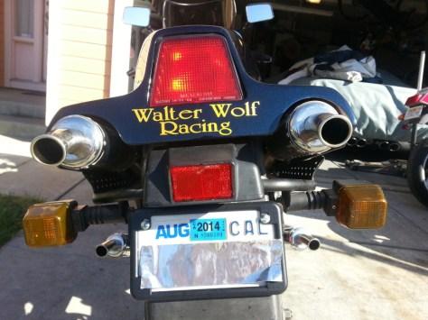 Suzuki RG400 Gamma Walter Wolf - Rear