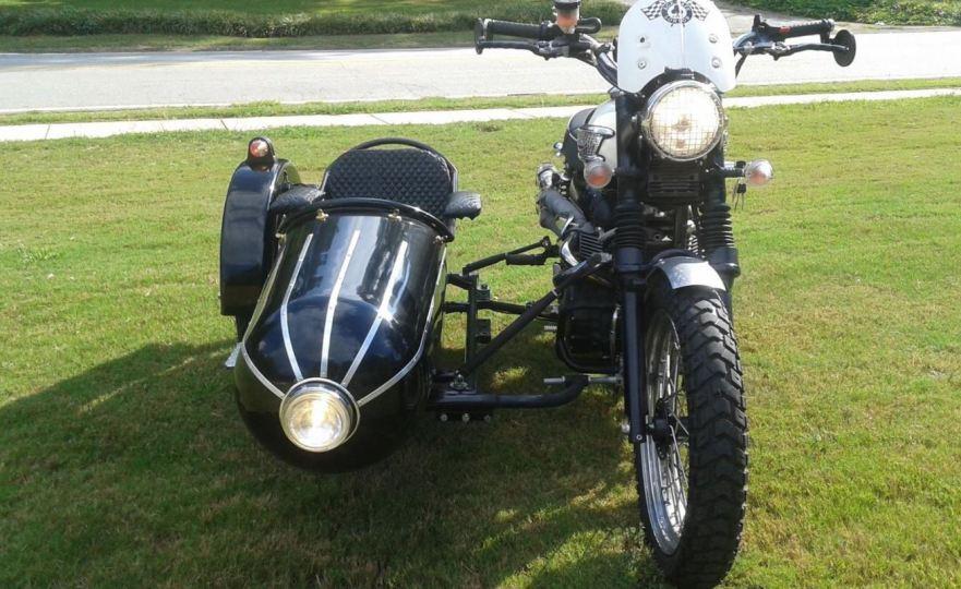 2007 triumph scrambler with sidecar   bike-urious