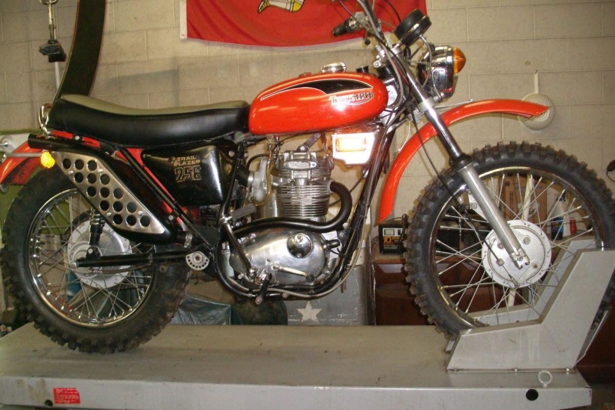 1971 Triumph T25t Trailblazer Bike Urious