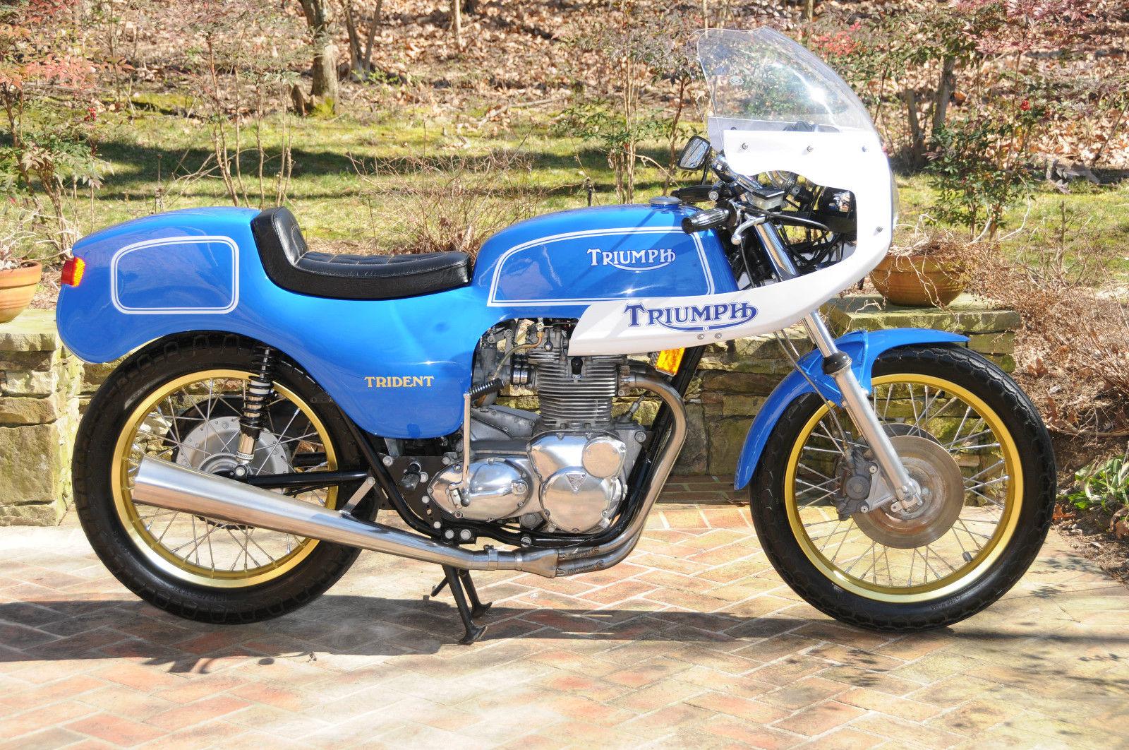 special body 1974 triumph trident cafe racer bike urious. Black Bedroom Furniture Sets. Home Design Ideas