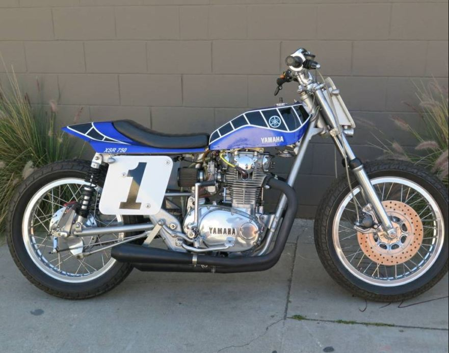 Black and Blue – Yamaha XS650 Street Tracker – Bike-urious