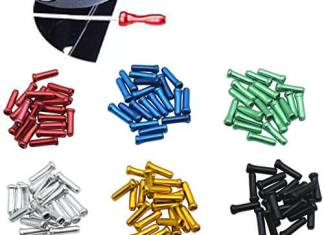 JooFn 120 PCS Brake Cable Caps Bike Shift Cable Gear Wire End Tips Crimp for Road Mountain Bikes