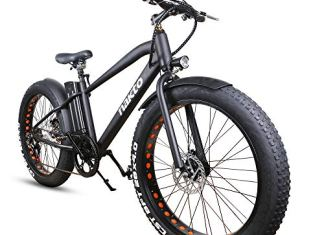 NAKTO Fat Tire Electric Bicycle 500W/350W High Speed Brushless Motor and Detachable Waterproof Lithium Battery Electric Bicycle for Adult