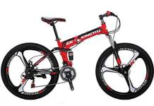 EUROBIKE Kingttu G6 21Speed 26Inch Moumtain Bike 3Spoke Wheels Dual Disc Brake Folding Bike