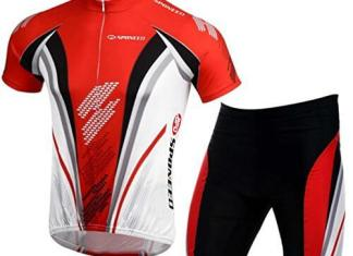 sponeed Bicycle Jersey for Men Cyclist Shirts and Shorts Sleeve Suits Padded Bike Pants