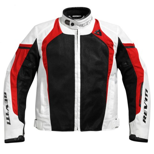 Cheapest Rev'it Tarmac Air Textile Jacket - White / Red Price Comparison