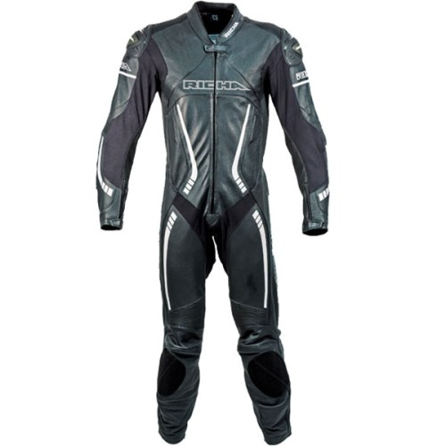Cheapest Richa Barracuda One Piece Leather Suit - Black / White Price Comparison