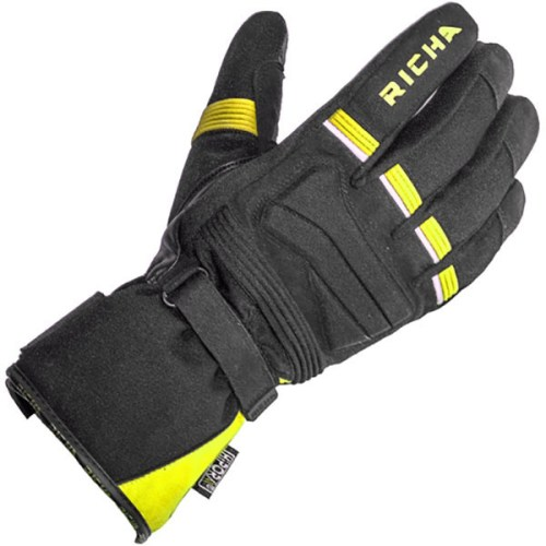 Cheapest Richa Peak Textile Gloves - Black / Yellow Price Comparison