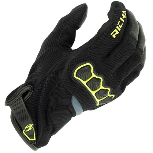 Cheapest Richa Spyder Mixed Glove - Black / Fluo Yellow Price Comparison