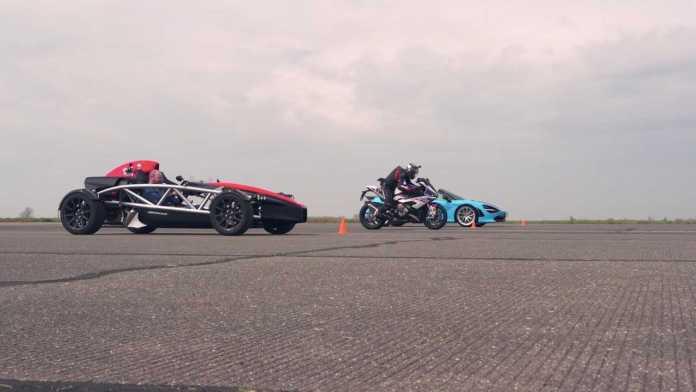 McLaren 720S Vs. BMW S1000RR Vs. Ariel Atom