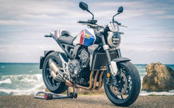 A dozen customized CB1000Rs at Wheels and Waves 2019