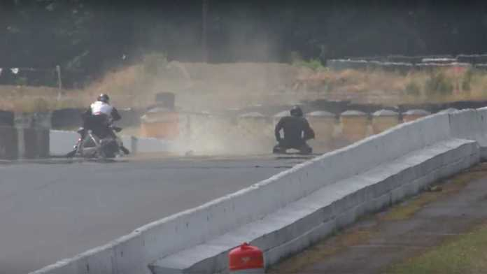 This Is What Crashing A Racing Harley At 215 Mph Looks Like