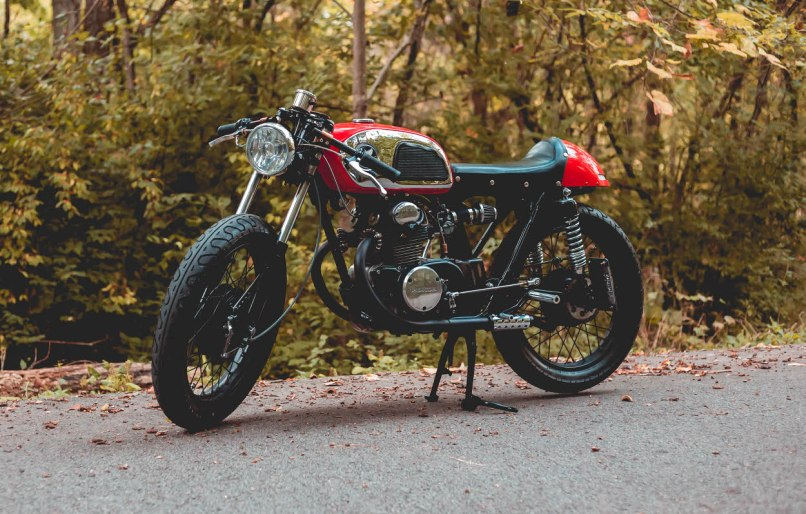 Today We Are Thrilled To Present Moi A 1972 Honda Cb175 Cafe Racer Built And Owned By Artist Designer Kat Stovall Guttersp Of Fayetteville