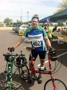 Bike Friday folding bike on charity ride