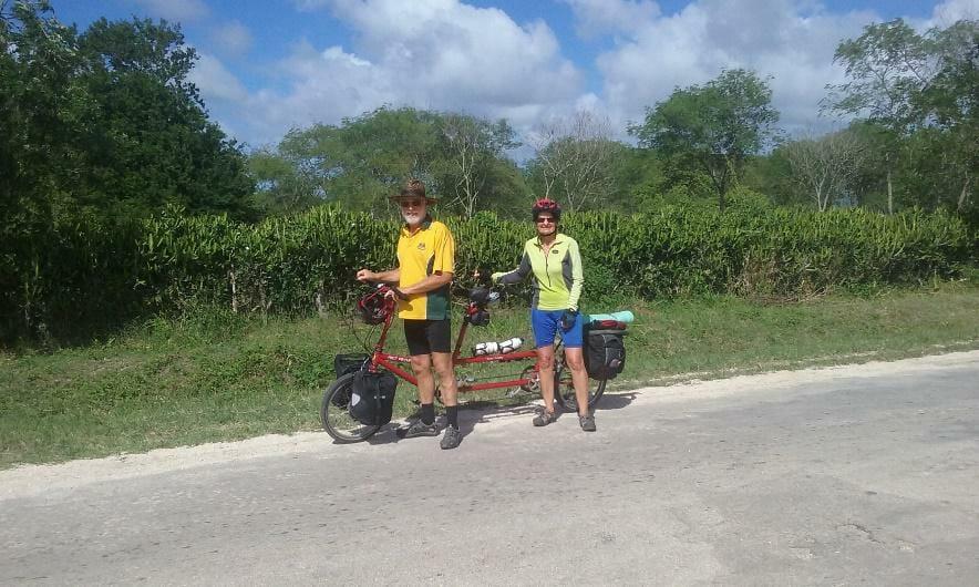 Riding a tandem Bike Friday in scenic Cuba