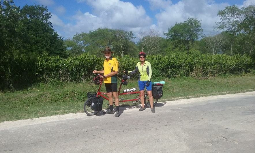 Riding a tandem Bike Friday in scenic Cuba
