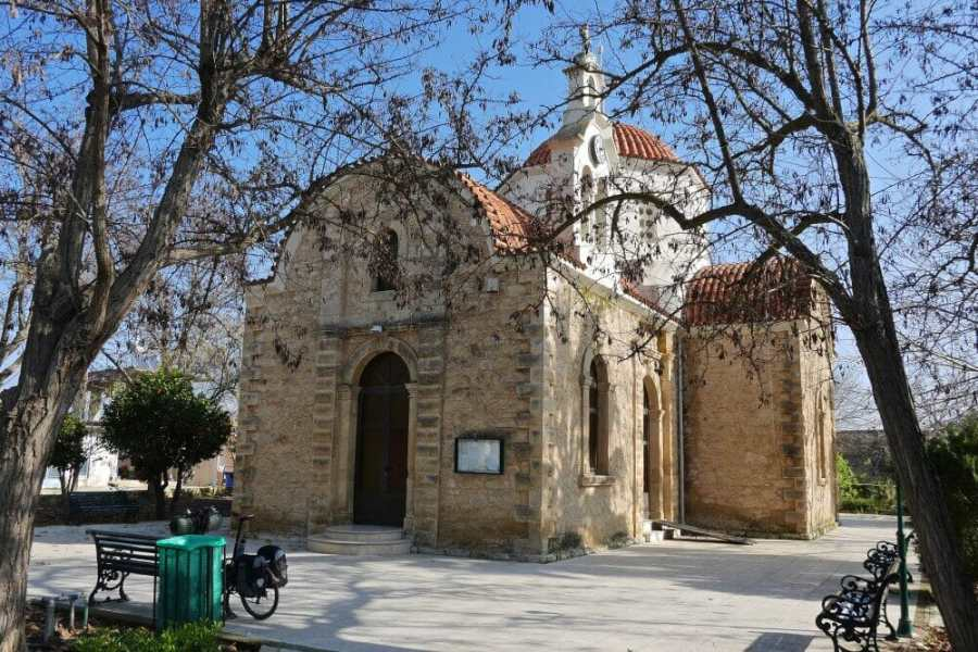 Biking to an ancient Greek Church