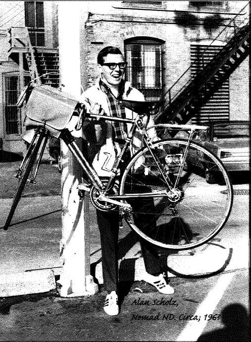 Alan Scholz as a young cyclist