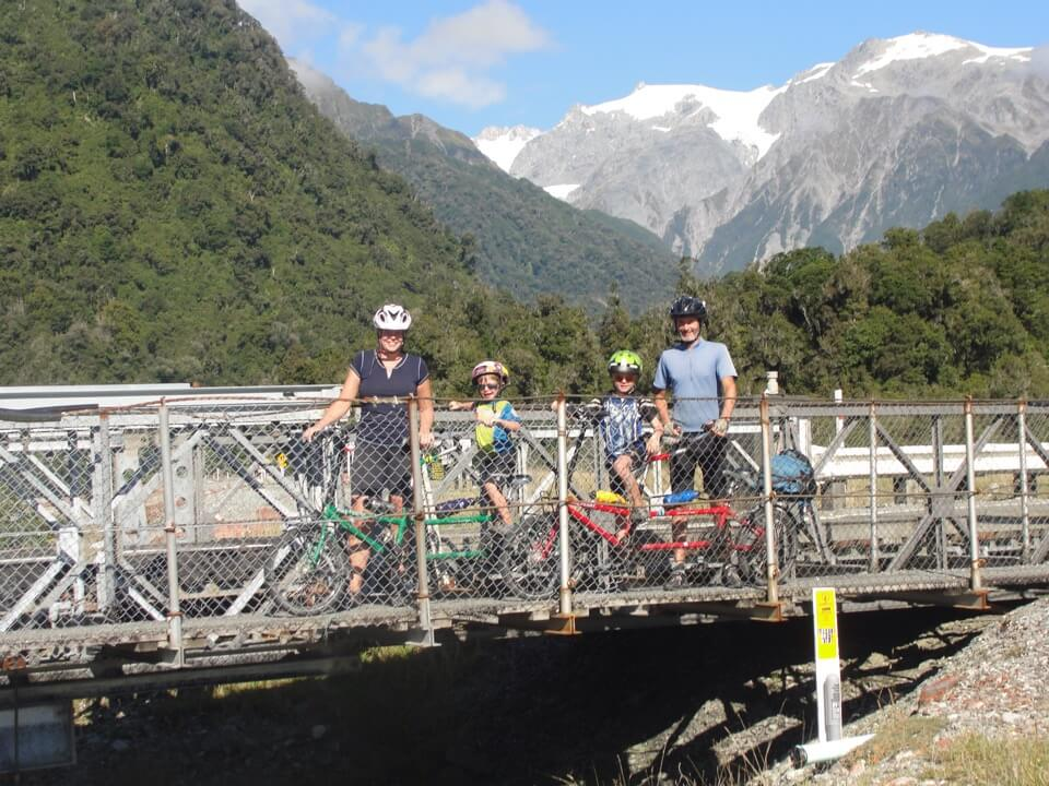 Bike Friday Family Tandem on an adventure in New Zealand