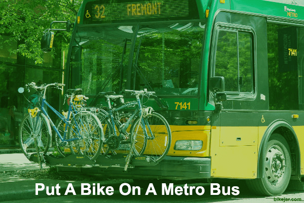 how to put a bike on a metro bus