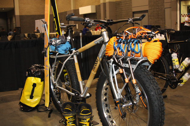Boo's new fatbike is prepped for any kind of winter adventure you can throw at it.