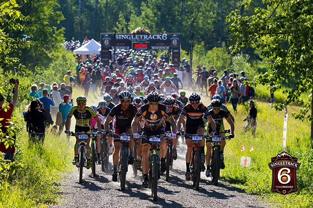 Single Track Six kicked off under clear blue skies, balmy temperatures, and high spirits. Today's stage covered 40 kilometer and climbed 1800 meters through the Kananaskis Country. The first 5 kilometers was double track and gravel road, but once the race hit singletrack, it never let up, all the way to the finish.