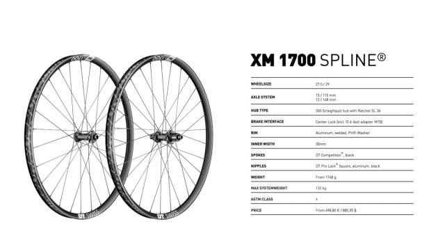 DT Swiss xm1700 specs