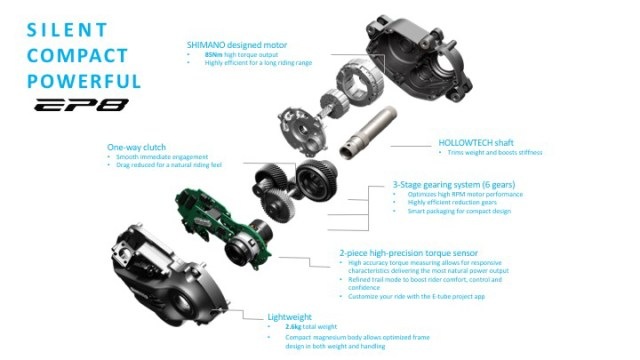 New shimano motor exploded view