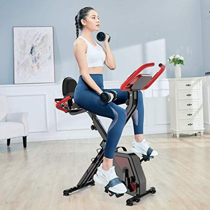 pooboo Folding Exercise Bike