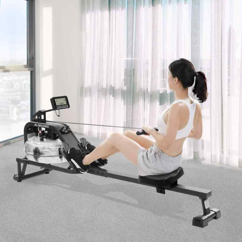 MaxKare Water Rowing Machine Water Rower with Water Resistance