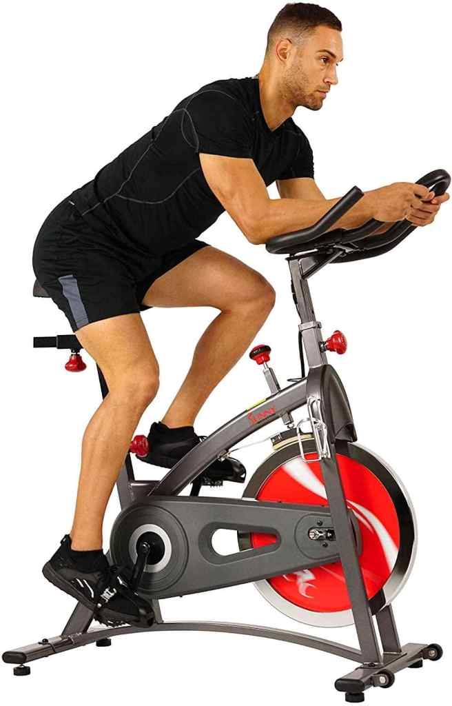 sunny health & fitness indoor exercise bike with 40 lb flywheel
