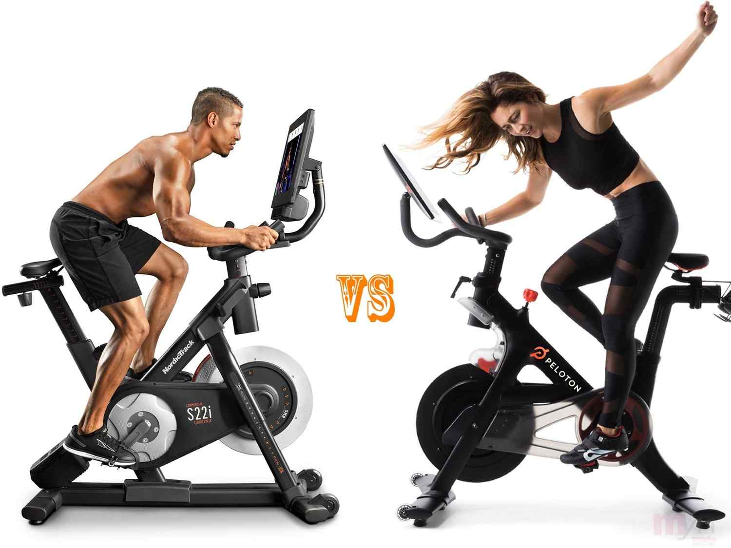 Peloton vs NordicTrack S22i Bike