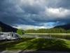 Namsos Camping vor der Hütte