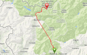 GPS of today's ride
